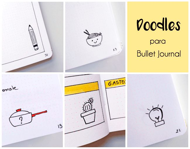 Ideas de Doodles para Bullet Journal | Dibujos para Bullet | Ilustraciones | Journal Español plantillas | Bullet journal calendario mensual | Bullet journal español plantilla | Calendario 2017 | Ideas bullet | Organización personal | How to start a bullet journal | Planner | Inspiration bullet journal | Tips | Layout bullet journal | List | Collection | Colecciones bullet journal | Notebook | Planner | Agenda | Journaling