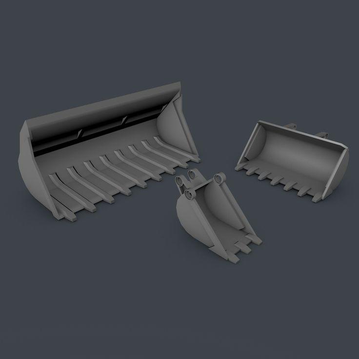 Free C4d Mode Lego Technic Truck Shovels - 3D Model