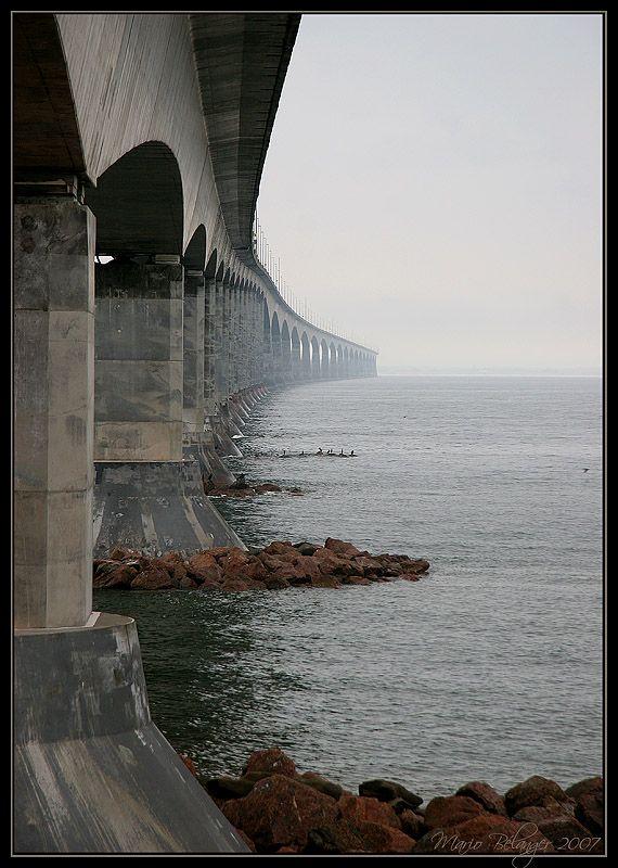 Confederation Bridge between New Brunswick & Prince Edward Island, Canada