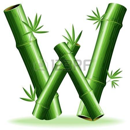 Bamboo Logo Letter Sign W Letters Lettering Letter