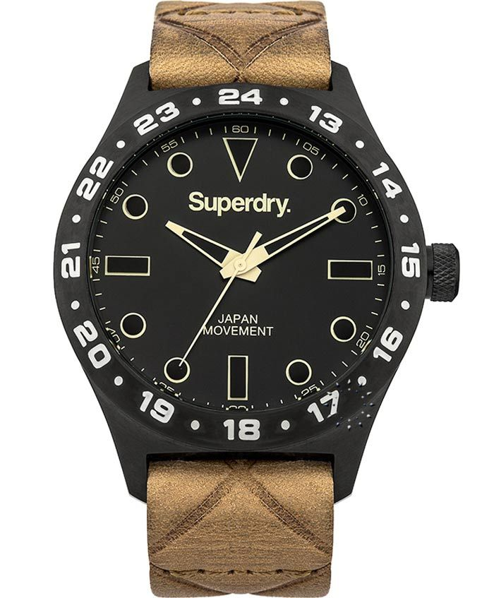 SUPERDRY Match Brown Leather Strap Τιμή: 139€ http://www.oroloi.gr/product_info.php?products_id=37037