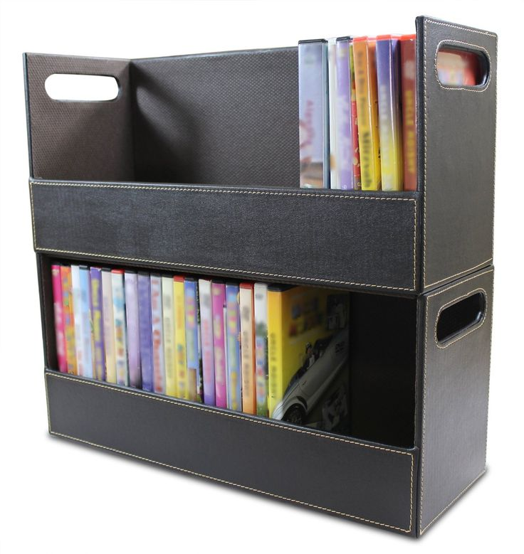 Amazon.com: Stock Your Home Stacking DVD Movie Media Home Storage Organizer   Chocolate
