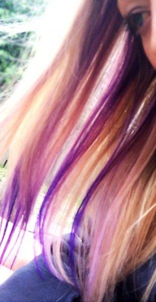 Purple Hair Streaks - Girlfriends Are Like Shoes