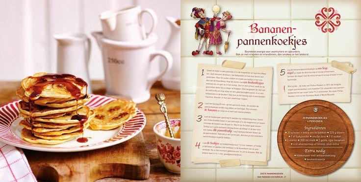 Bananenpannenkoekjes. Heerlijke pannenkoeken boordevol energie. Dit recept komt uit Polles Pannenkoekenboek.