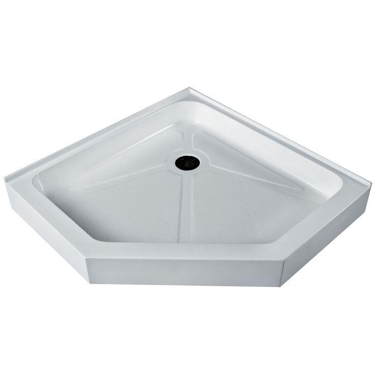 "Vigo White 38-Inch x 38-Inch Neo-Angle Shower Tray, Size 38"" x 38"""