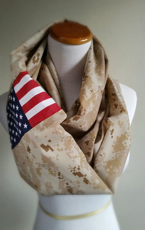 Hey, I found this really awesome Etsy listing at https://www.etsy.com/listing/197462545/marine-desert-camo-infinity-scarf