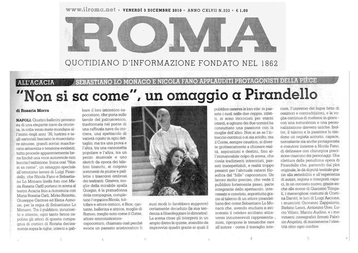 """3 dicembre 2010 - Roma - Rosaria Morra su """"Non Si Sa Come"""""""