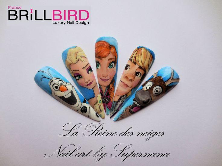 La Reine des neiges de Walt Disney Olaf (le bonhomme de neige), Elsa (la reine des neiges), Anna (sa sœur), Kristoff, et Sven (le renne)