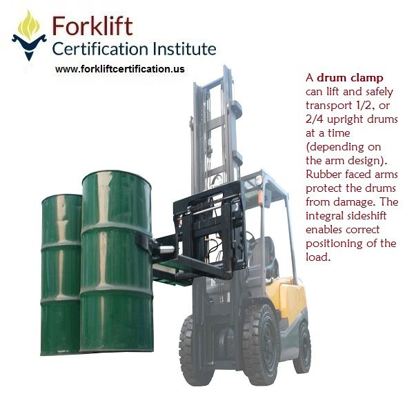 What does a DRUM CLAMP do? #forklift #forkliftcertification #forklifttraining