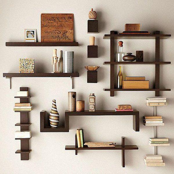 60 creative bookshelf ideas diy living room decor wall on wall shelves id=91139