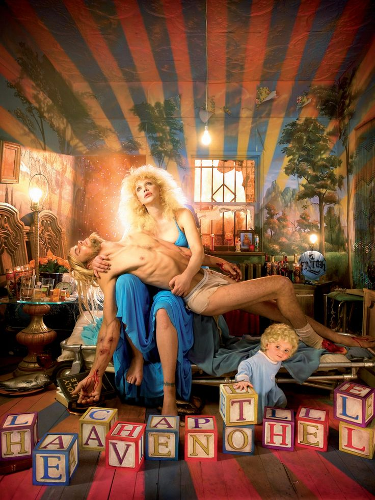 """Pieta with Courtney Love"" by David LaChapelle, 2006, from the ""Heaven to Hell"" series"