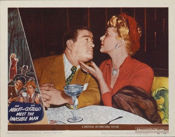 Abbott And Costello Meet The Invisible Man Abbott And Costello Meet The Invisible Man Abbott And Costello Invisible Man Lobby Cards
