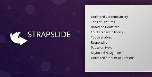 Strapslide - Responsive Bootstrap Slider Plugin