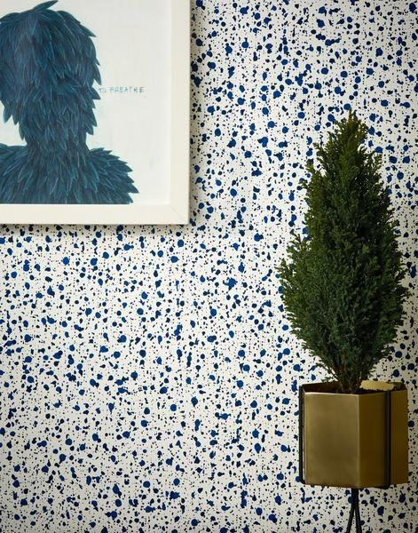 Snow (Blue) wallpaper by Askov Finlayson for Hygge and West | Shop now!