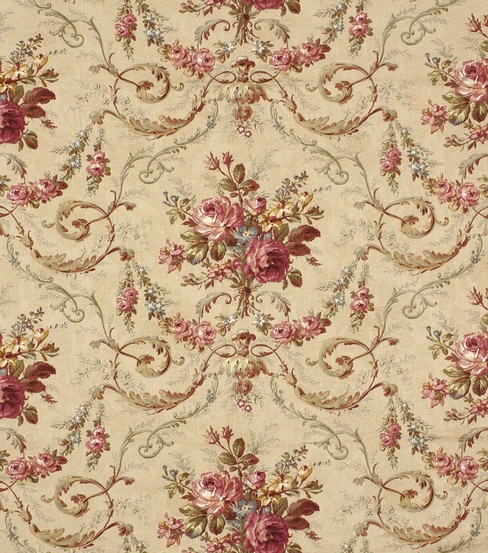 Home Decor Fabric-Robert Allen Rochelle Antique Fabric
