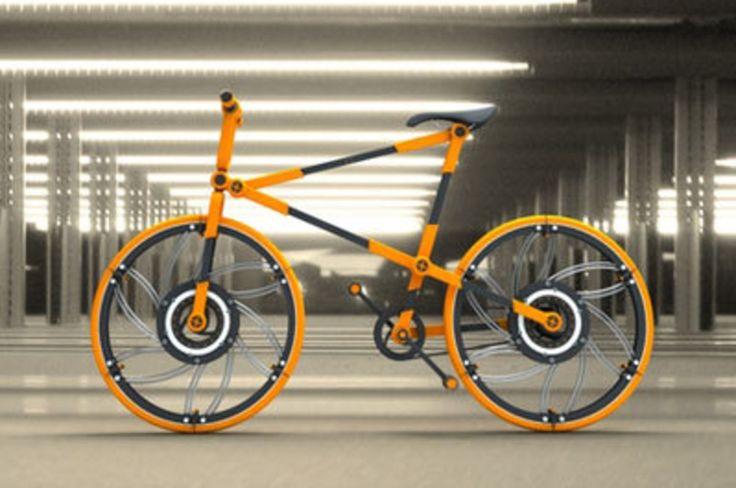 Viene dalla testa di Victor Aleman, designer messicano, questa bella e colorata folding bike, che promette di essere ritirata tutta in una valigia. Si smontano anche le ruote, si smonta il telaio, si divide in tanti pezzettini e la si rimette assieme come se fosse di Lego. Da vero geek!
