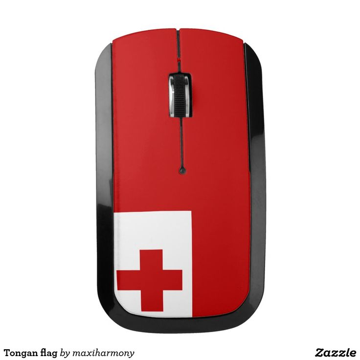 Tongan flag wireless mouse
