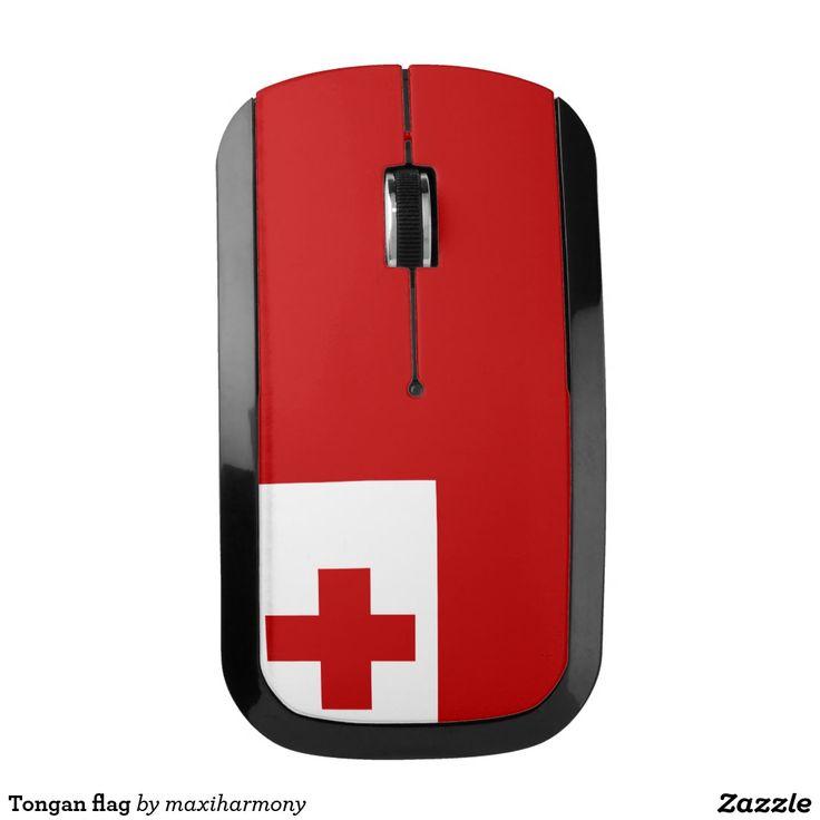 Tongan flag wireless mouse