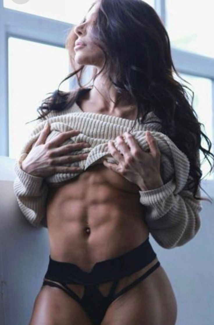Ripped female abs photos — pic 12