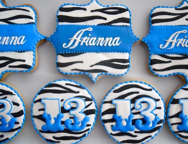.Oh Sugar Events ~ Blue Zebra Cookies