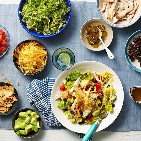 Chicken Taco Salad Bar