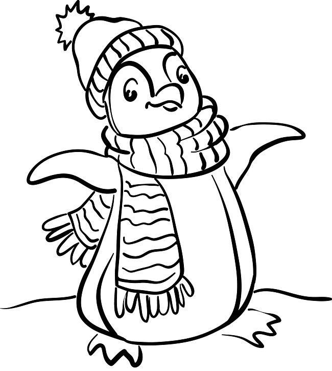 Penguin Coloring Picture Snowman Party Coloring Pages Penguin