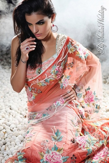Floral #sari by Rajdeep Ranawat