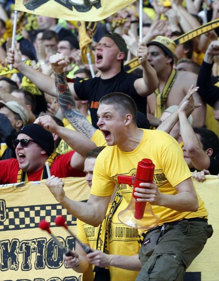 ~ A passionate Borussia Dortmund fan at the 2013 Champions League Final ~