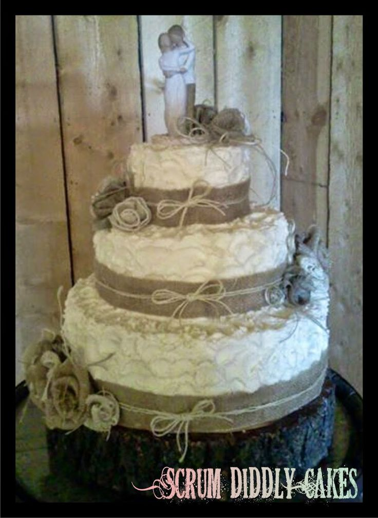 square rustic wedding cakes 17 best images about burlap on cake wedding 20366