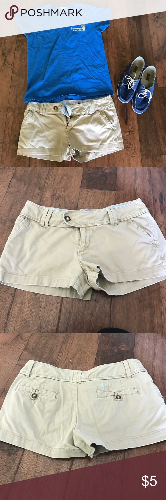 Cheeky khaki shorts! Red Camel size 7. Fits more like a 5.  Small paint spot on right cheek. Great for waitressing hosting in hot summer. Easily cleaned and not a worry of they get messy! No wedgies. Make offer! Red Camel Shorts