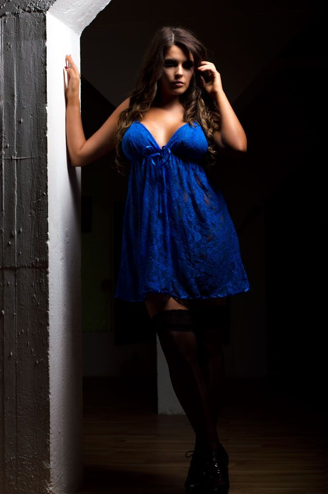 Fab Royal Blue Lace Chemise #madeperfect4u!