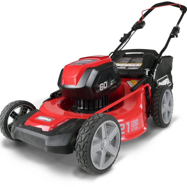 Heavy Duty 7-Position 1 4Ah Battery and Charger Walk Behind Lawn Mower  #WalkBehindMower