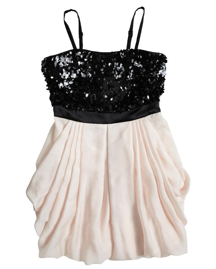 Sequin Bodice Bubble Dress - Bardot Junior