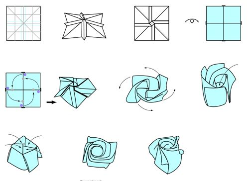 17 Best images about Origami on Pinterest   Origami paper ... Origami Rose Instructions