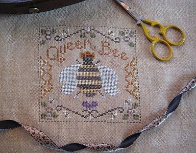 Miss Janes Stitching: Queen Bee ~ finished with her jewelled crown