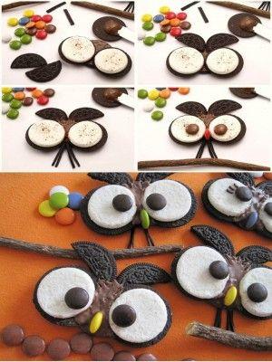Galletas en forma de búho, encuentra más postres para niños en http://www.1001consejos.com/postres-para-ninos/