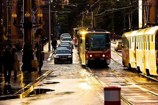 Národní ulice ve zlaté barvě