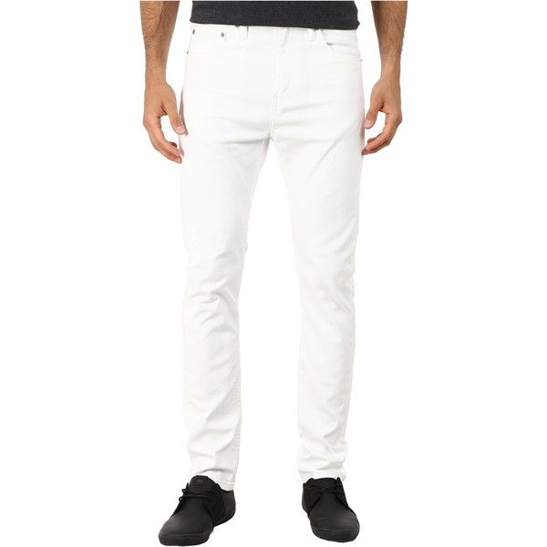 Levi's   Mens 510 Skinny (White - Bull Denim) Men's Jeans ($47) ❤ liked on Polyvore featuring men's fashion, men's clothing, men's jeans, white, mens white jeans, mens waxed denim skinny jeans, mens low rise jeans, mens white skinny jeans and mens low rise skinny jeans