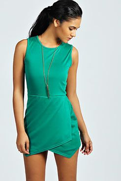 Womens sea green playsuit from boohoo.com - £12 at ClothingByColour.com