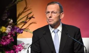 Tony Abbott at the opening of the Regional Countering Violent Extremism Summit in Sydney, Australia, 11 June 2015.