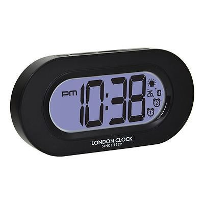 #London clock co 7cm black night #light dual #alarm clock with calendar,  View more on the LINK: http://www.zeppy.io/product/gb/2/401098439464/