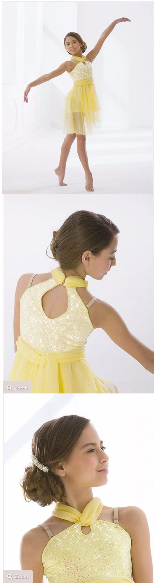 Dresses and Tutus 152352: Yellow Revolution Dance Lyrical Costume -> BUY IT NOW ONLY: $45 on eBay!