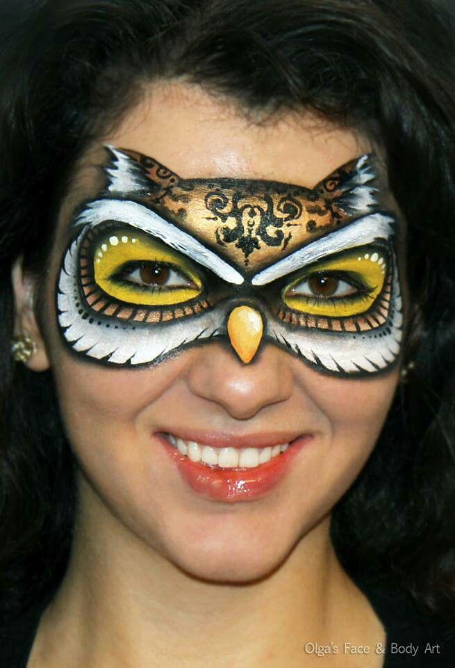 An owl mask that looks good! Uil masker schmink