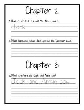 Magic Tree House #1 Dinosaurs Before Dark Book Club Packet, FREE!
