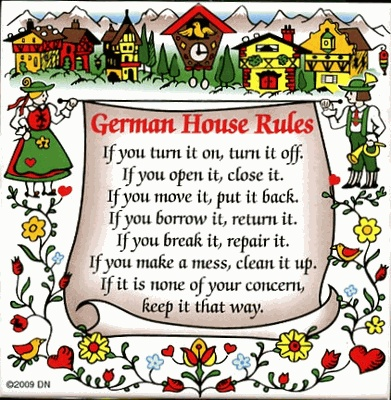 "DN 6"" Color Tile German House Rules, from germandeli.com"