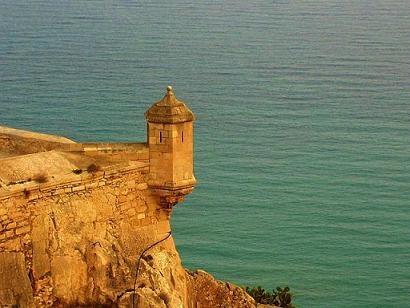 Castillo de Santa Bárbara in Alicante, overlooking the Mediterranean