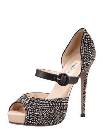 Valentino Microstud Mary Jane. Gorgeous!!: Maryjane, Fashion Shoes, Valentino Rockstud, Fashion Style, Fall Shoes, Valentino Microstud, Little Black Dresses, Mary Jane, Microstud Mary