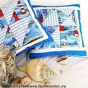 """Для дома и интерьера ручной работы. Ярмарка Мастеров - ручная работа Подушки """"Морские мотивы"""". Handmade."""