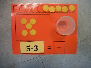 Spotlight on Kindergarten: Moving on to Subtraction! (freebies) - free subtraction work mats