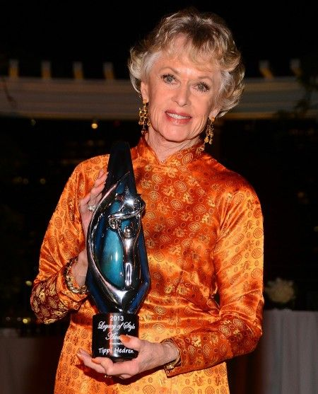 CND And Beauty Changes Lives Honor American Actress & Philanthropist Tippi Hedren With The Legacy Of Style Award (Tippi is known as the Godmother of the Vietnamese-American nail salon industry -- and mother of Melanie Griffith.)